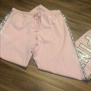 VS PINK classic sequin sweatpants